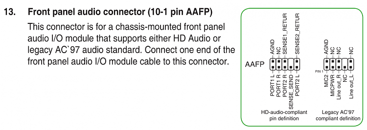 How do I connect an old chassis' front audio panel to a recent MoBo? -  Windows 10 ForumsWindows 10 Forums