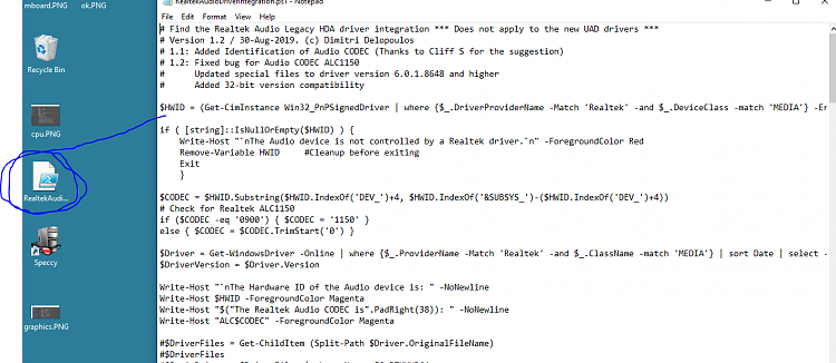 Determine the HDA Realtek driver needed for your Audio-ok.png