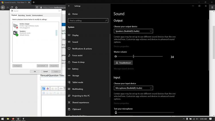 Asus Tuf FX505DT Laptop Audio Bug - Windows Version:1903(18362.720)-audio.png