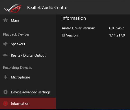 Realtek HD Audio Codec Driver 2.82 for Windows …