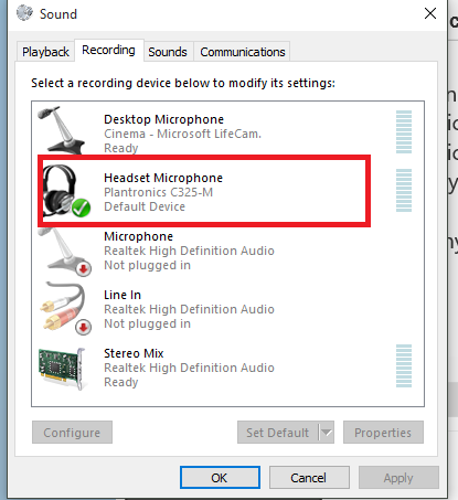 Microphone Driver Windows 10