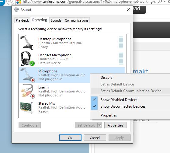 realtek hd audio windows 10 microphone not working