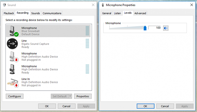 microphone boost option not showing in windows 10 sound options windows 10 forums. Black Bedroom Furniture Sets. Home Design Ideas
