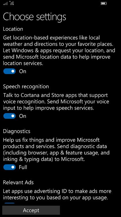 Windows 10 Mobile Creators Update Build 15063 in Release Preview