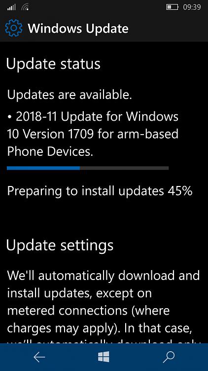 KB4469220 update Windows 10 Mobile v1709 Build 15254.541 - November 13-wp_ss_20181114_0001.png