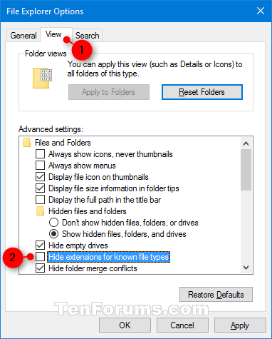 Hide or Show File Name Extensions in Windows 10-file_name_extensions-file_explorer_options.png