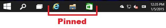 'Pin to taskbar' and 'Unpin from taskbar' Apps in Windows 10-taskbar.jpg