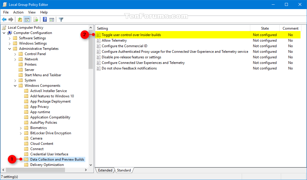 Enable or Disable Insider Build Settings in Windows 10 ...