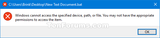 Run as different user - Add or Remove Context Menu in Windows 10-access_denied.png