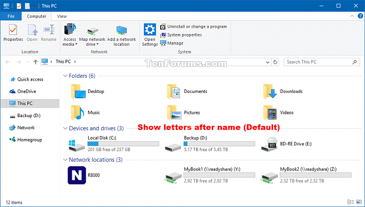 Show Drive Letters Before or After Name in Windows 10-drive_letters_example-1.png