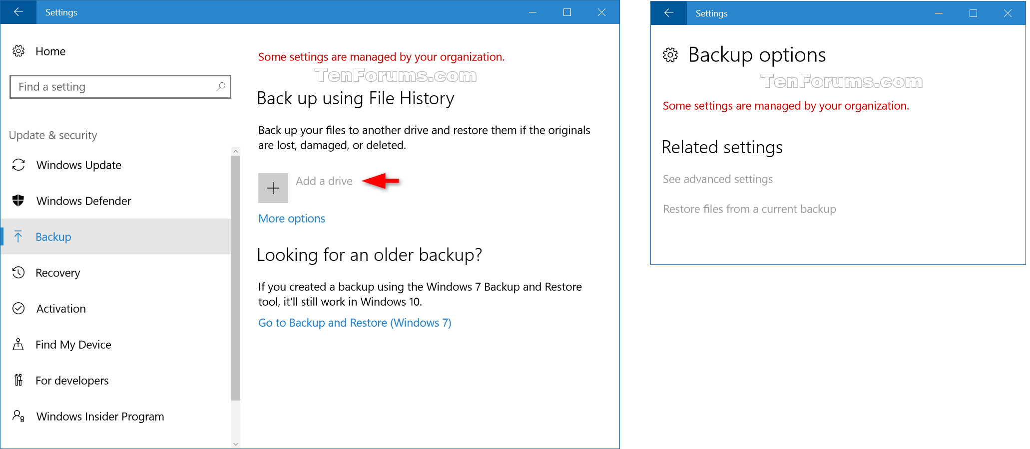 Windows registry files showing history - Click Image For Larger Version Name File_history_settings Png Views 232 Size Enable Or Disable File History In Windows 10