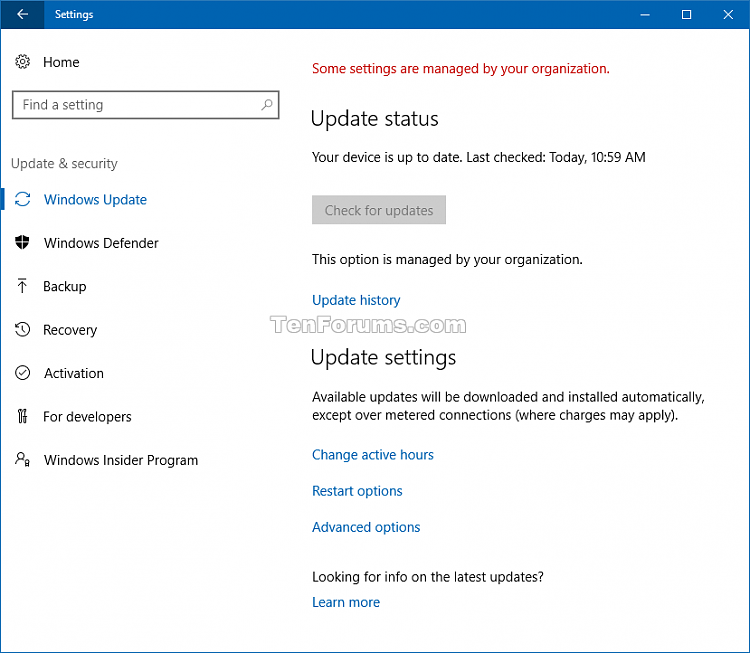 Enable or Disable Check for Windows Updates in Windows 10-check_for_updates_disabled.png