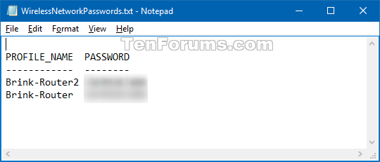 See Wireless Network Security Key Password in Windows 10