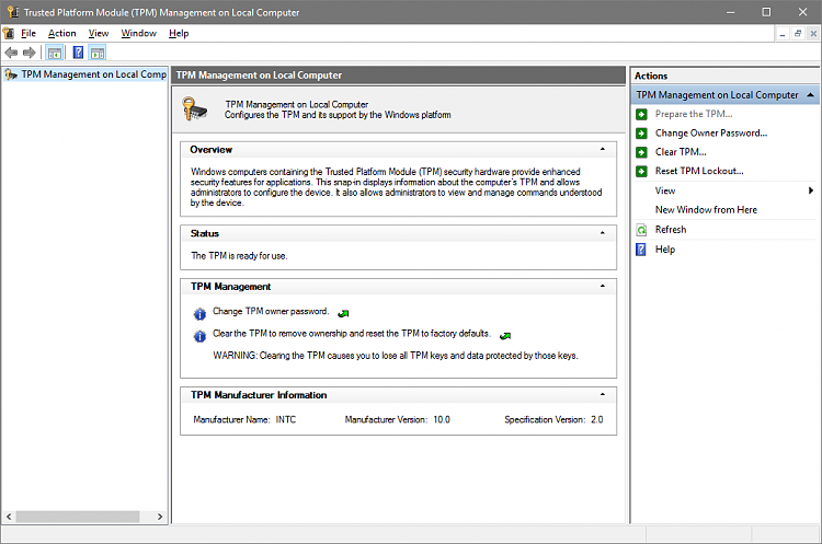 Verify Trusted Platform Module (TPM) Chip on Windows PC-mmc-tpm.png