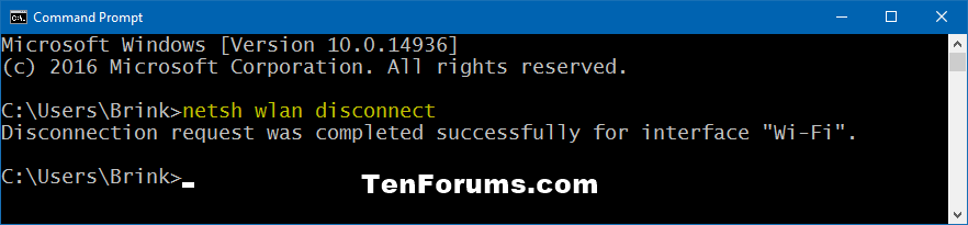 Disconnect from Wireless Network in Windows 10   Tutorials
