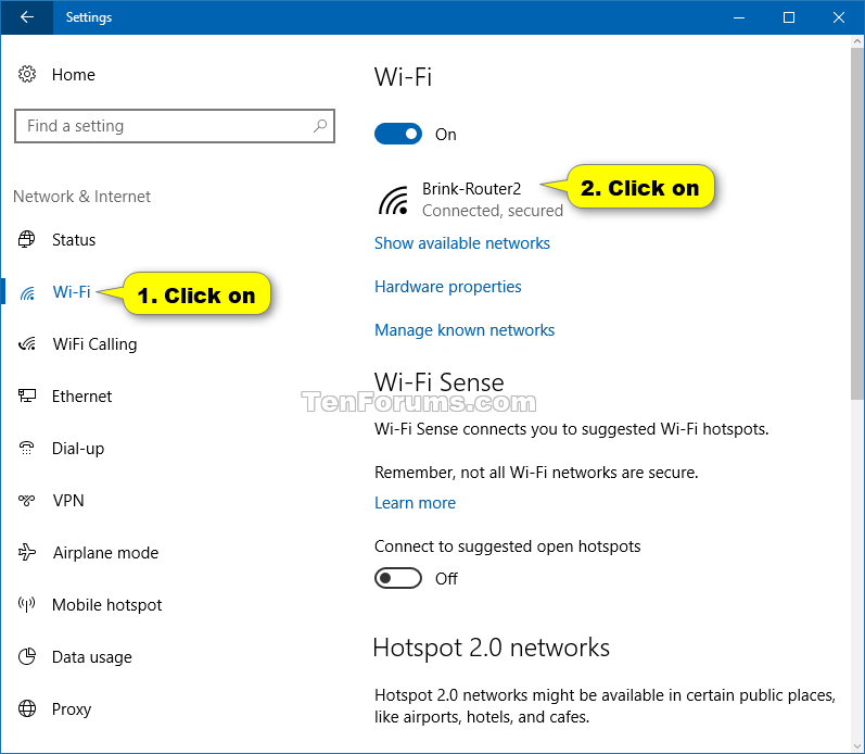 Turn On or Off Connect Automatically to Wireless Network in Windows