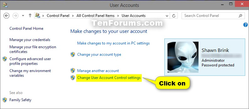Change User Account Control (UAC) Settings in Windows 10 | Tutorials