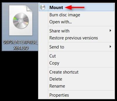 windows 10 mount iso program