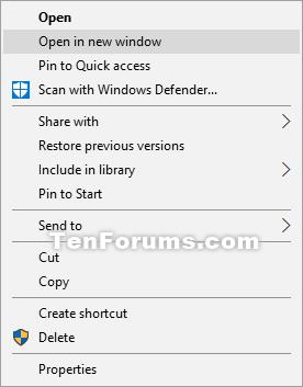 open each folder in same or new window in windows 10 tutorials rh tenforums com