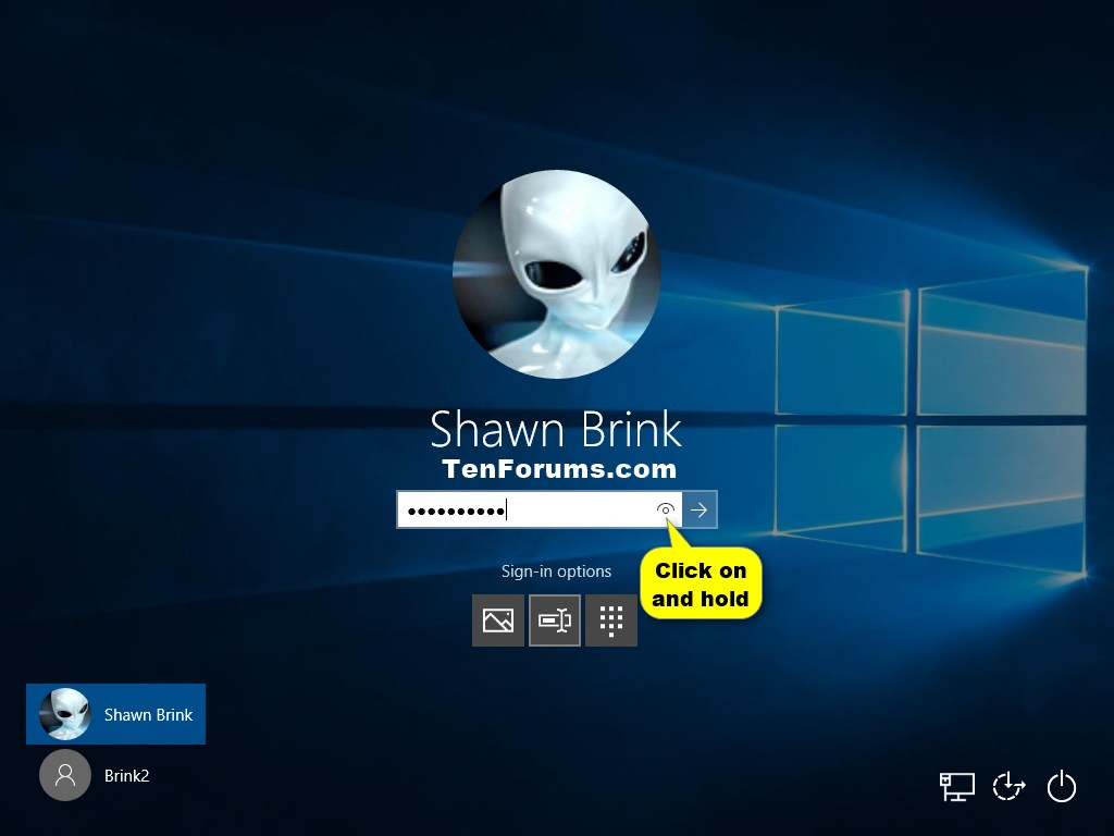Enable or Disable Password Reveal Button in Windows 10