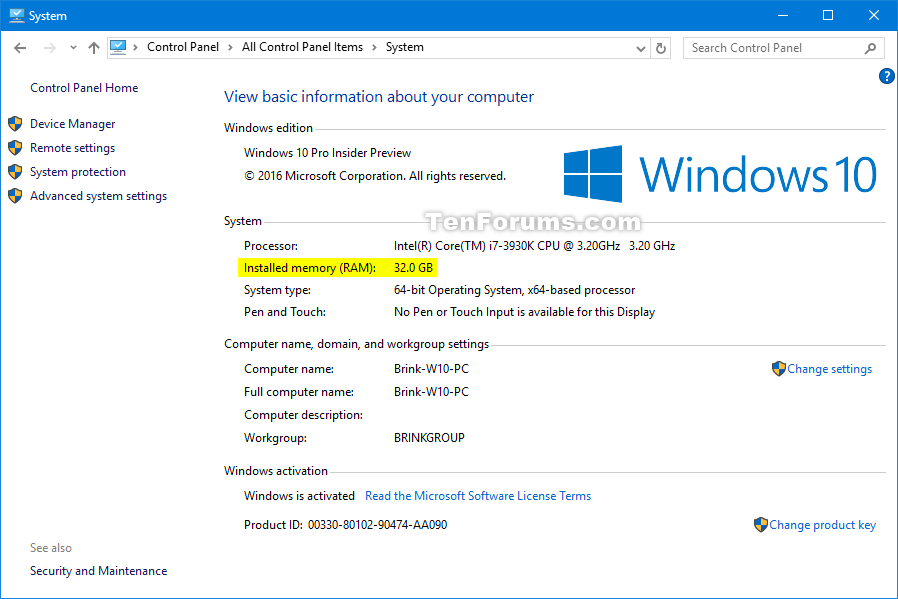 Determine System Memory Size, Speed, and Type in Windows 10 | Tutorials