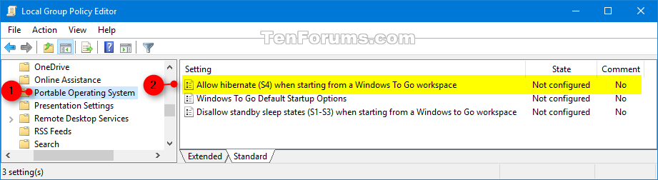 Enable or Disable Windows To Go using Hibernate on Windows