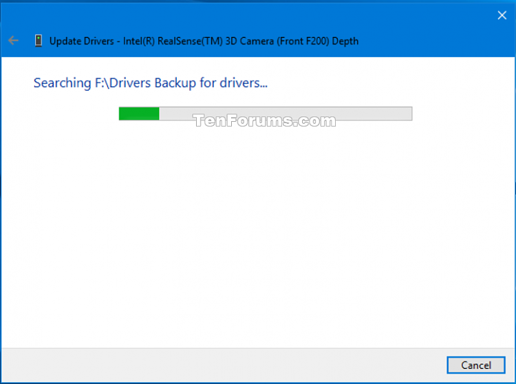 how to create backup of a driver