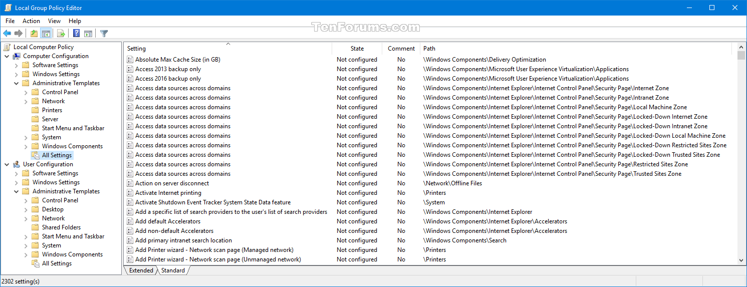 Reset Local Group Policy Editor Settings to Default in Windows 10 ...