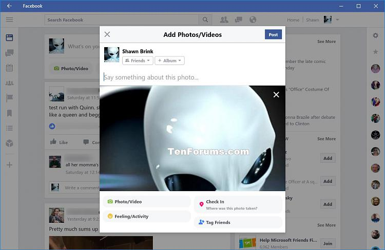 how to delete a shared file facebook