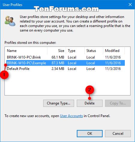 corrupted domain user profile windows 10