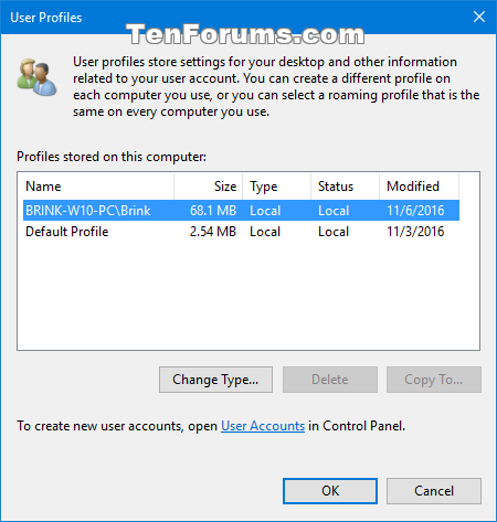 Delete User Profile in Windows 10 | Tutorials