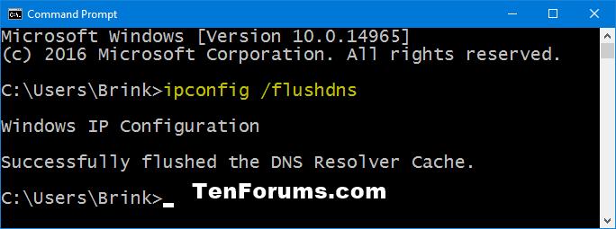 Flush dns resolver cache in windows 10 windows 10 tutorials name flushdnscommandg views 3609 size 139 kb ccuart Images