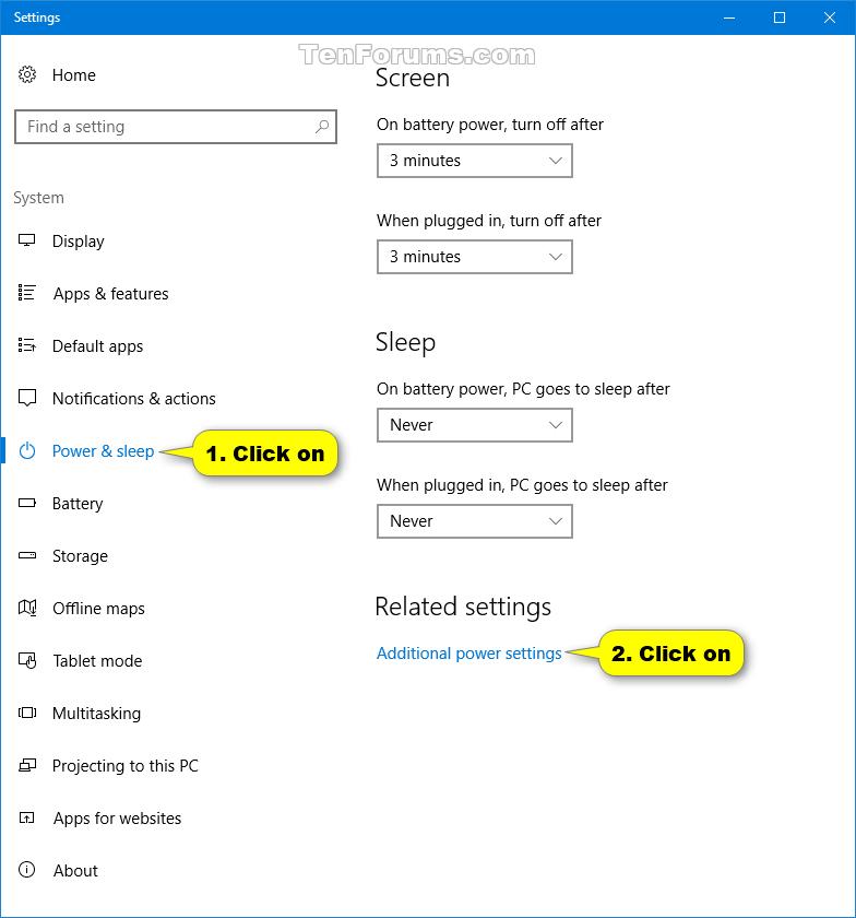 Change Power Plan Settings in Windows 10 | Tutorials