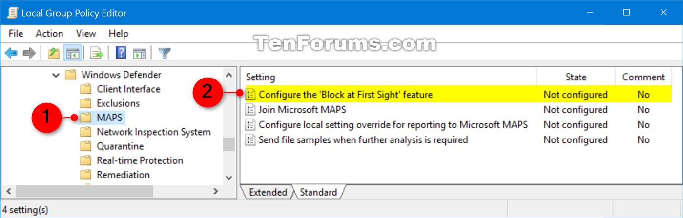 hkey_local_machine software policies microsoft windows defender spynet