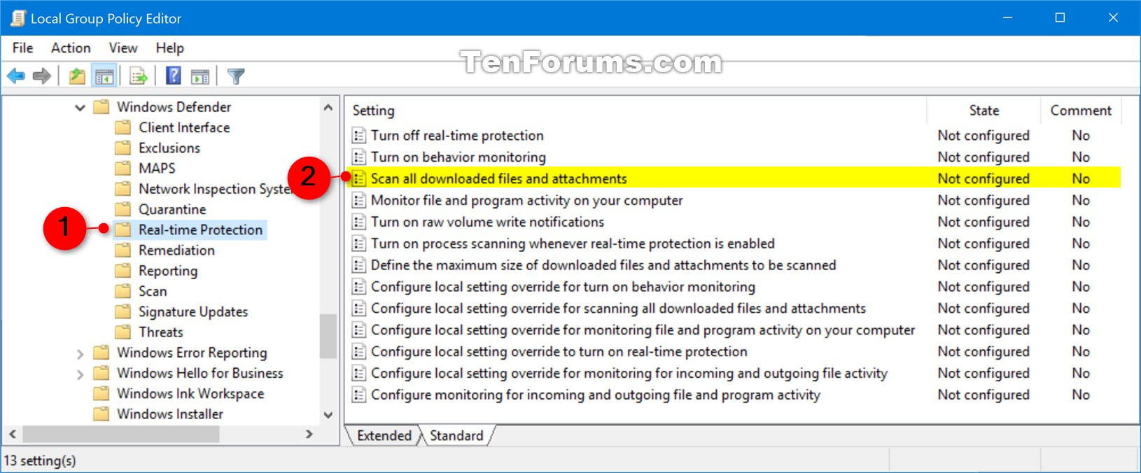 Enable Windows Defender Block at First Sight in Windows 10 | Tutorials