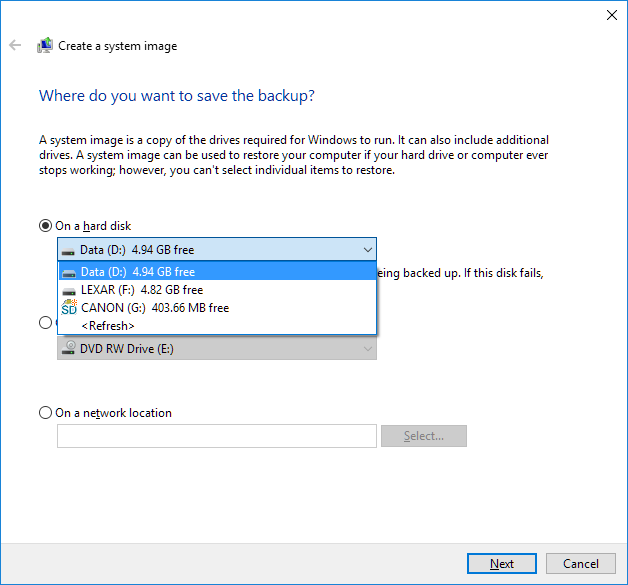 how to create windows 7 system image