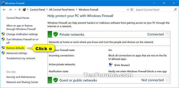 how to change the ddos settings in my windows firewall
