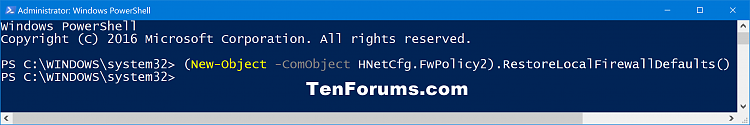 Click image for larger version.  Name:Windows_Firewall_Restore_defaults-PowerShell.png Views:277 Size:47.7 KB ID:111376