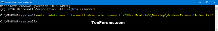 Click image for larger version.  Name:Show_Windows_Firewall_rules_command.png Views:205 Size:16.1 KB ID:111625