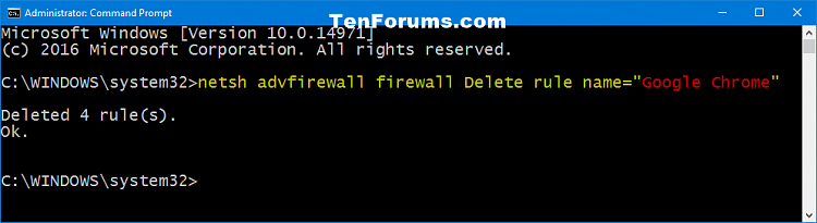 Click image for larger version.  Name:Delete_Windows_Firewall_rule_command.png Views:25 Size:15.4 KB ID:111627