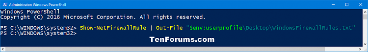 Click image for larger version.  Name:Show_Windows_Firewall_rules_PowerShell.png Views:109 Size:15.9 KB ID:111628