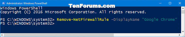 Click image for larger version.  Name:Delete_Windows_Firewall_rule_PowerShell.png Views:45 Size:15.1 KB ID:111630