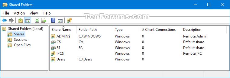 Create Shared Folders shortcut in Windows 10 | Tutorials