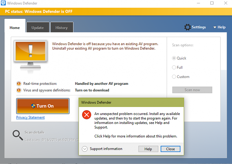 Windows Defender - Turn On or Off in Windows 10 - Page 11 ...
