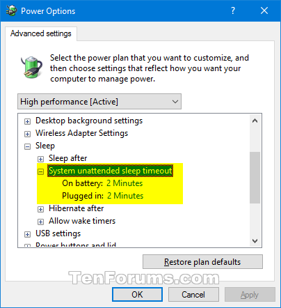 Add System unattended sleep timeout to Power Options in