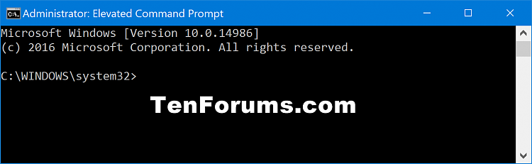how to get elevated command prompt windows 10