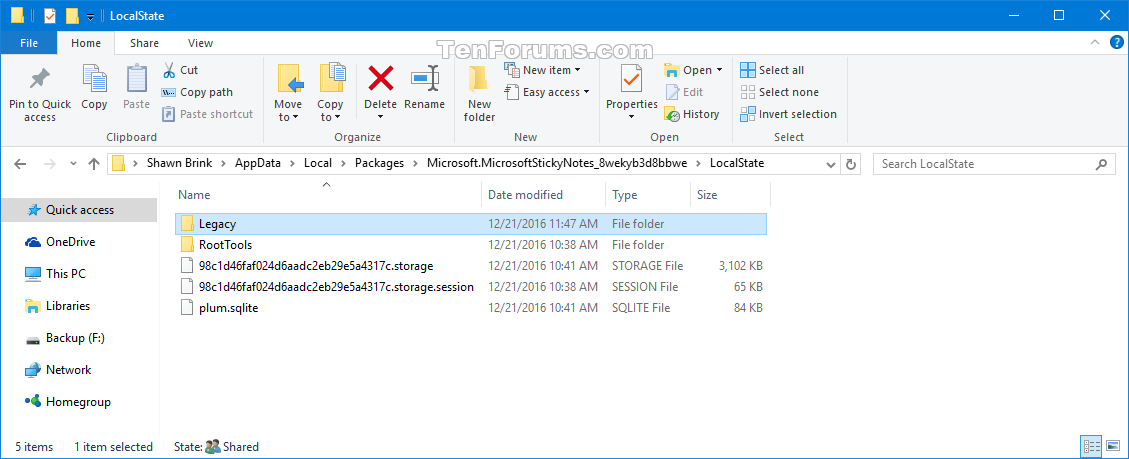 Backup and Restore Sticky Notes in Windows 10 | Tutorials