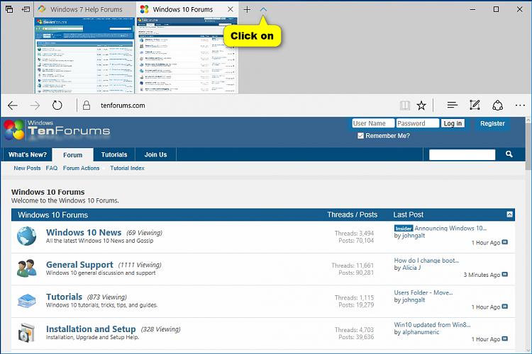Hide or Show Tab Preview Bar in Microsoft Edge-hide_tab_previews_chevron.png