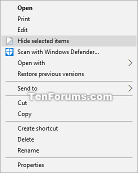 Hide selected items - Add to Context Menu in Windows 10-hide_selected_items_context_menu.png