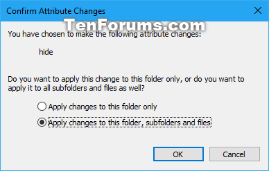 Hide selected items - Add to Context Menu in Windows 10-confirm_hidden_attribute_changes.png